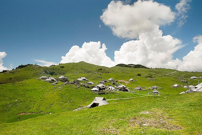 planšarske koče na veliki planini