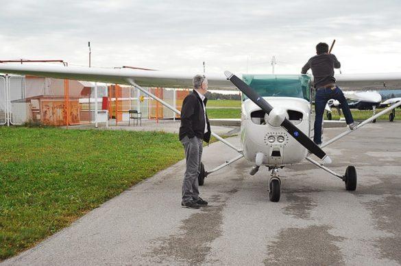 koča na kredarici, pogled z letala