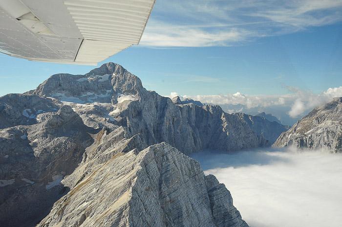gora triglav, pogled iz letala