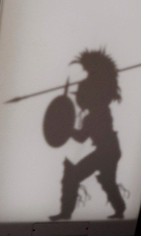 gladiator, rimski vojščak v polni opremi