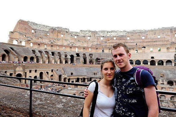 moški in ženska v Koloseju