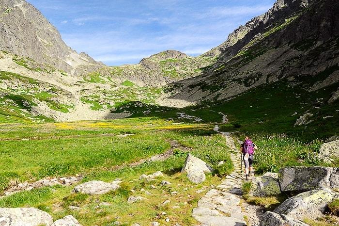 ledeniška dolina na U v Visokih Tatrah