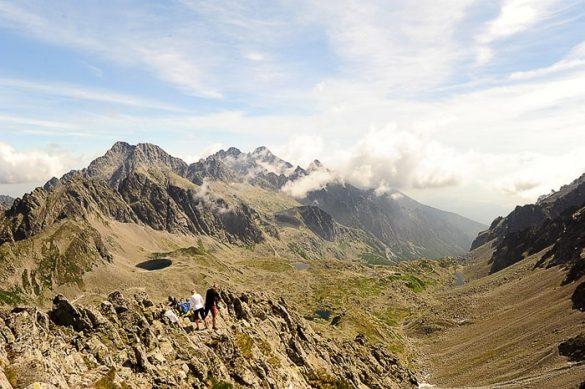 gorovje Visoke Tatre. Pogled z enega izmed vrhov
