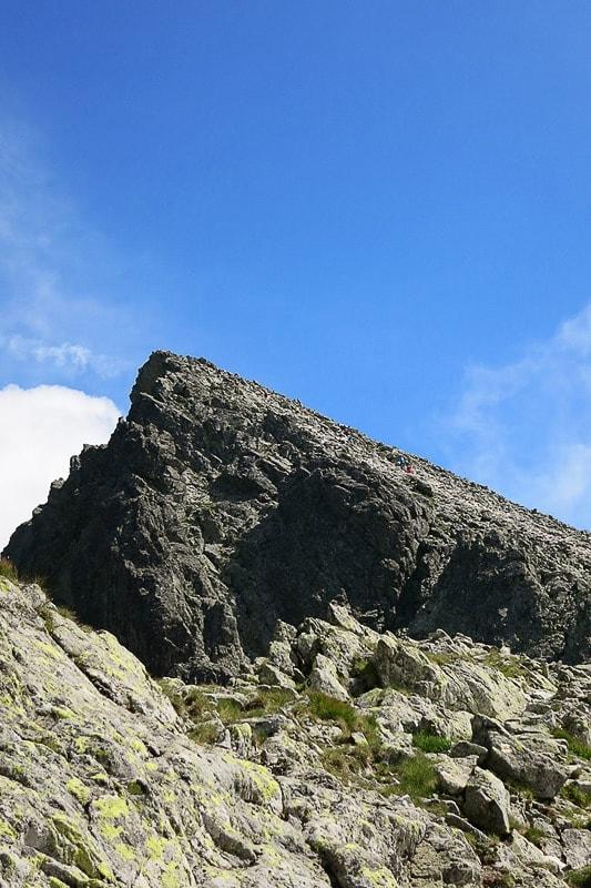 črna piramidasta gora Vyhodnia Vysoka