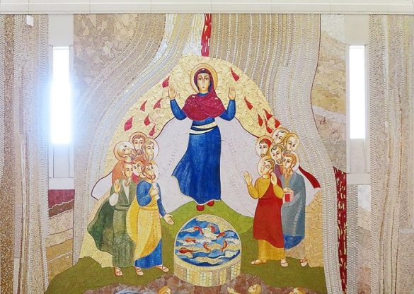 mozaik p. Ivana Rupnika, ki predstavlja Marijino vnebovzetje
