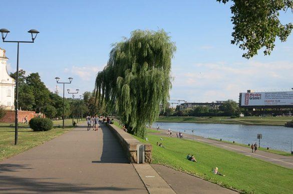 sprehajališče ob reki Visli v Krakovu