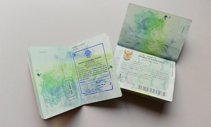 viza za južno afriko in lesoto