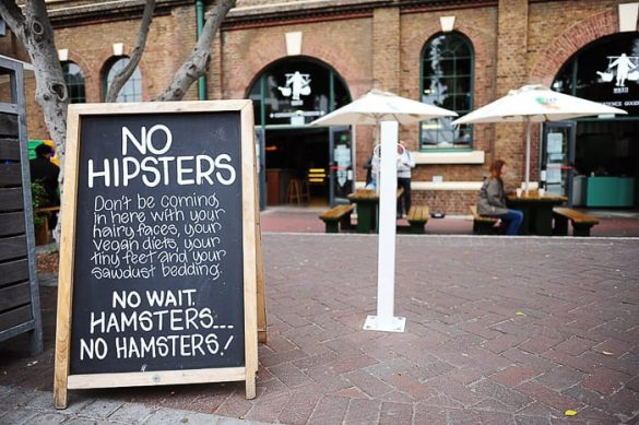 hipster napis Cape Town