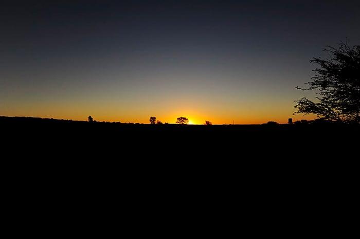 safari park Kgalagadi: čudovit sončni zahod