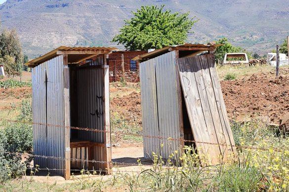 stranišča v Lesotu