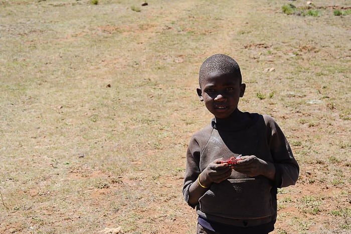 črnski otrok, Lesoto