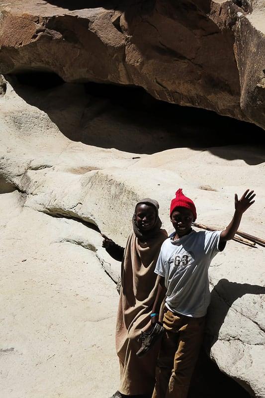 pastirja v Lesotu
