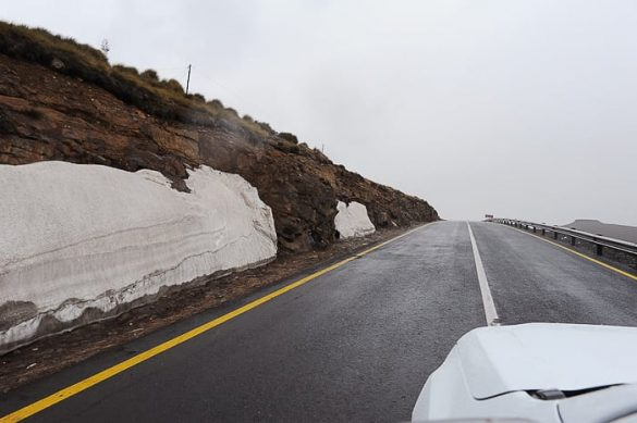 cesta s snegom, Lesoto