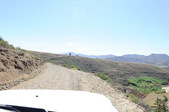 cesta v Lesotu