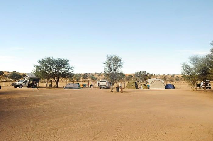 kamp v Kgalagadi parku