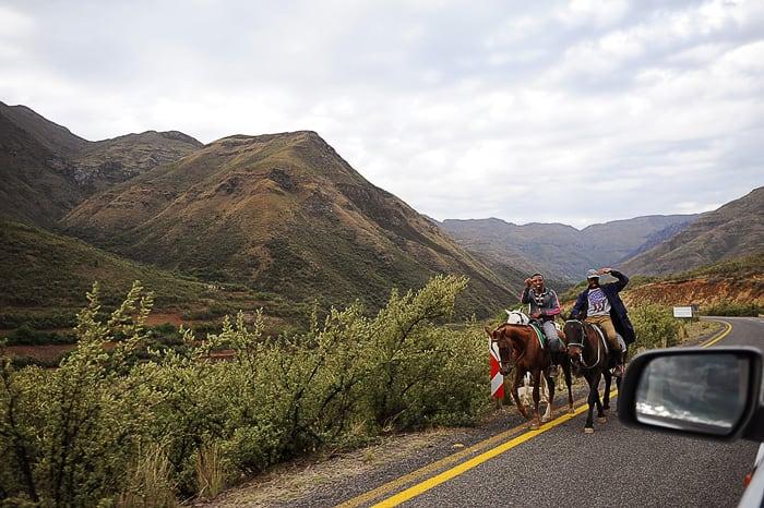 jezdeca v Lesotu
