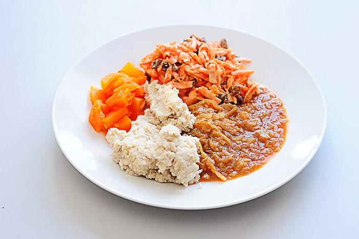 lesoto jed pap s korenčkovo solato