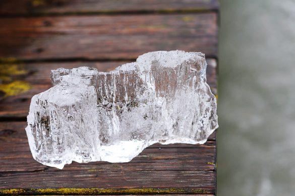 kos ledu iz jezero Weissensee