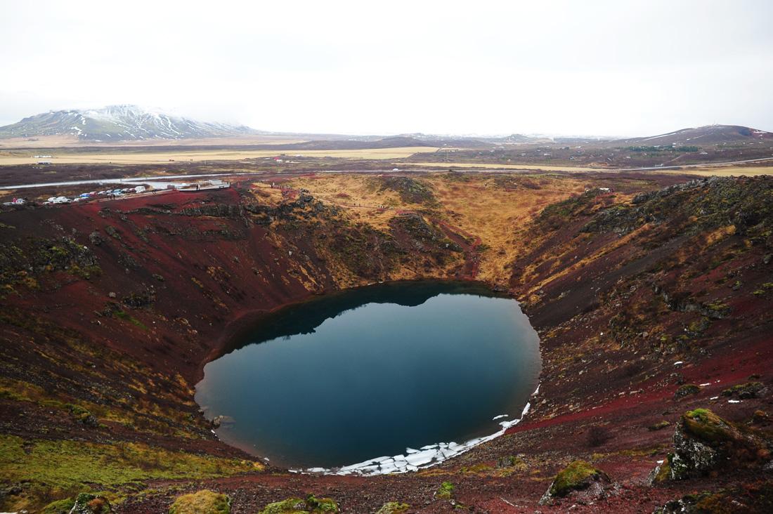 Krater Kerid, Zlati krog po Islandiji