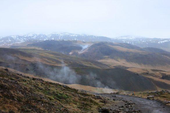 Reykjadalur - kadeča dolina