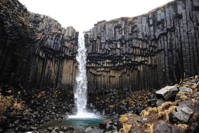 Slap Svartifoss, nacionalni park Skaftafell
