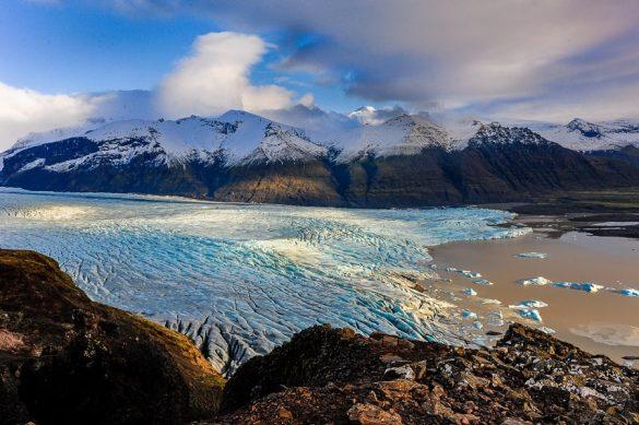 ledenik v nacionalnem parku Skaftafell