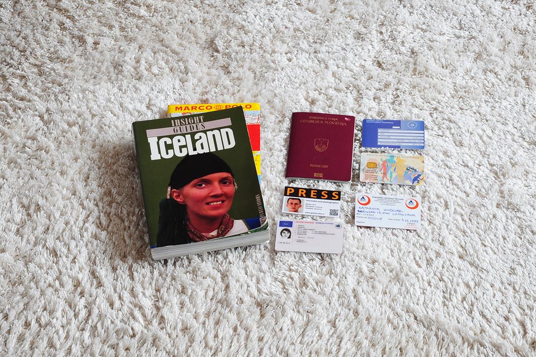 kaj spakirati za na Islandijo - dokumenti