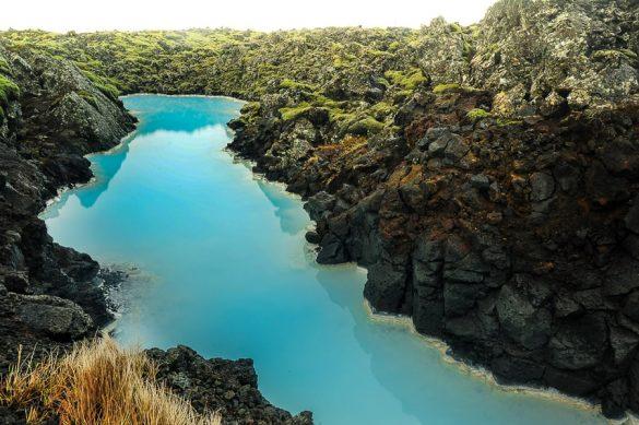 turkizna voda Blue Lagoon, Islandija