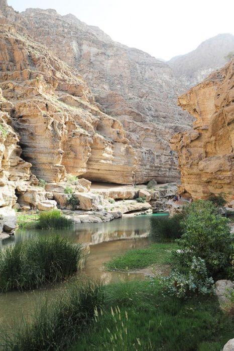 kanjon wadi shab, oman