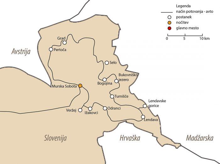 zemljevid Prekmurja