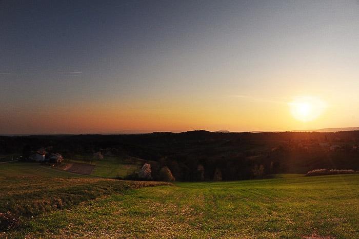 sončni zahod, Goričko