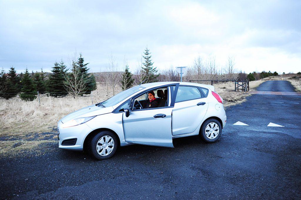roadtrip po islandiji pozimi, ford fiesta