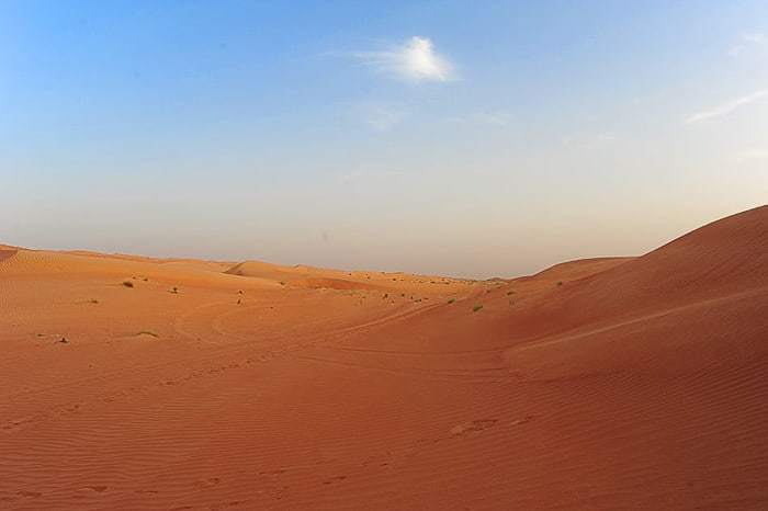 oranžna puščava Wahiba