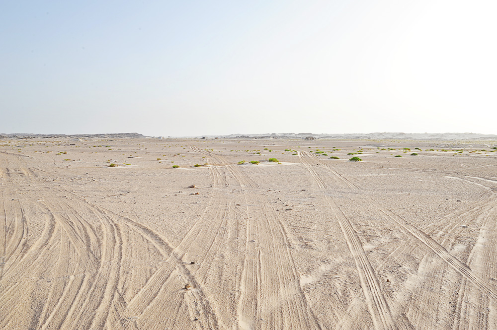 dostop do bela puščava Al Khaluf Dunes