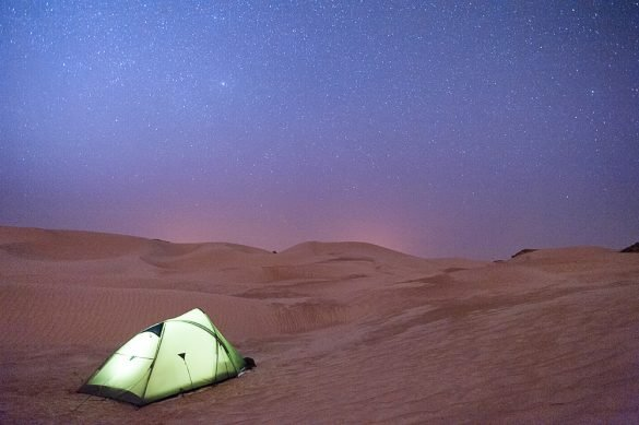 Kampiranje v beli puščavi, oman