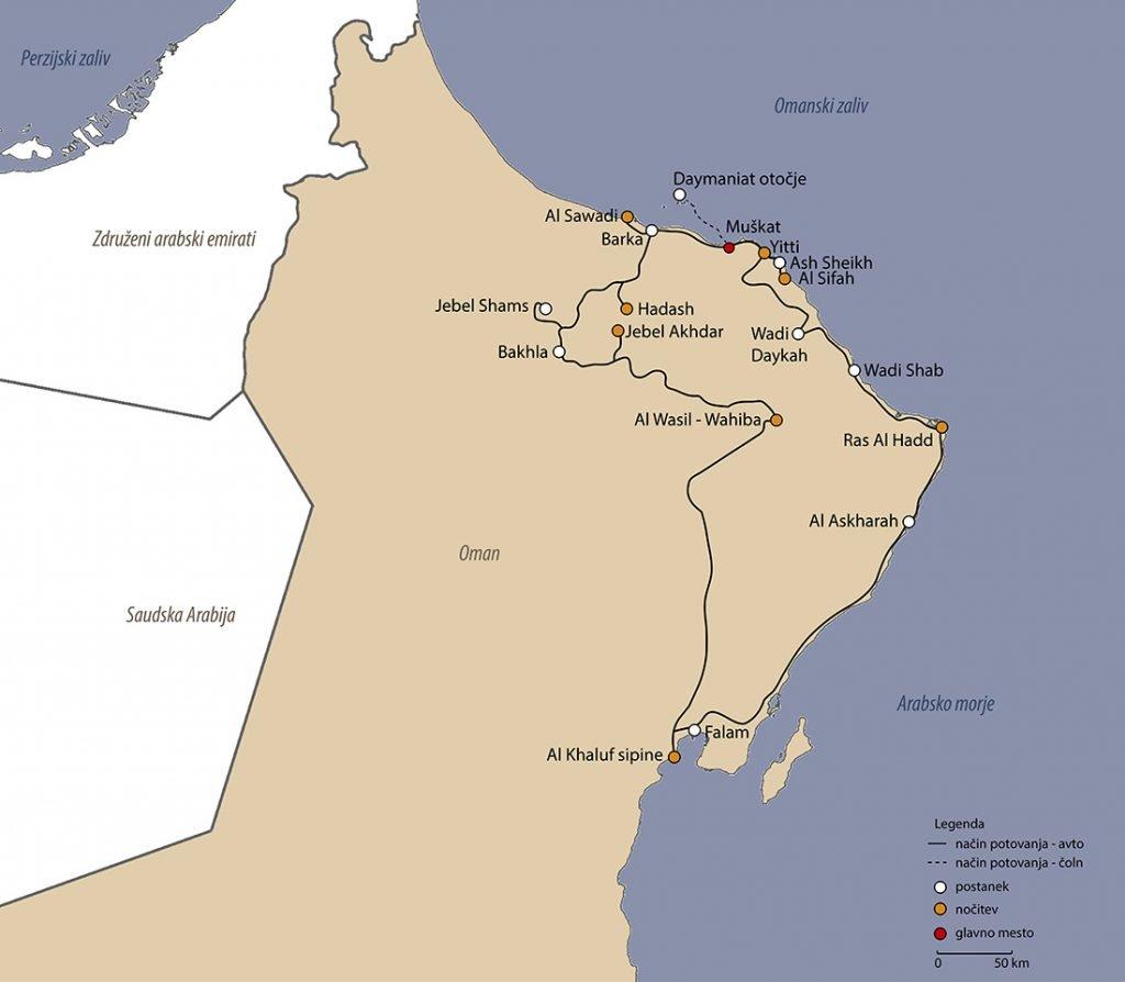 potovanje z avtomobilom po Omanu