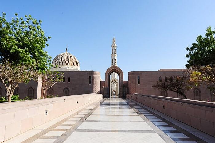 omanska velika mošeja Sultan Qaboos