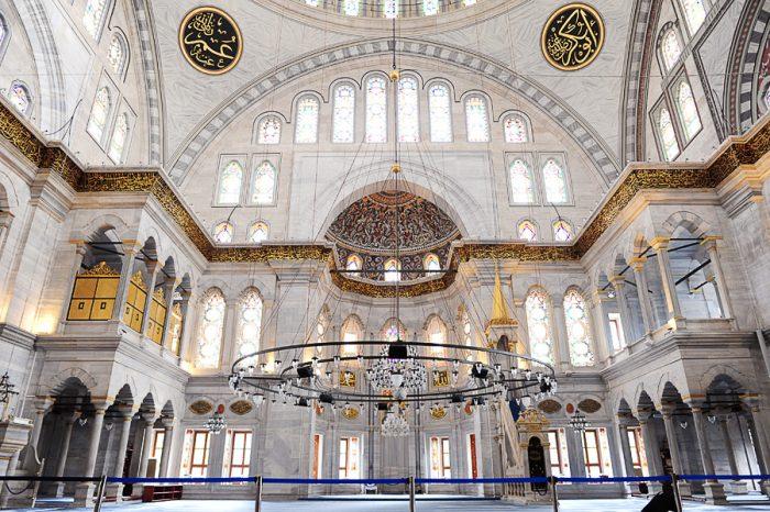 Notranjost mošeje Beyazit Camii