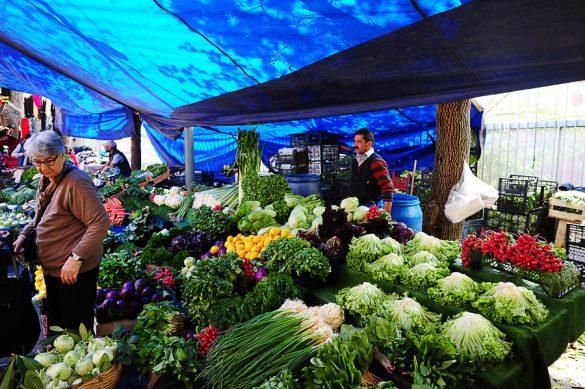 tržnica z zelenjavo Istanbul