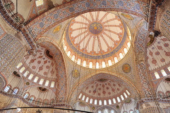 notranjost modre mošeje Istanbul