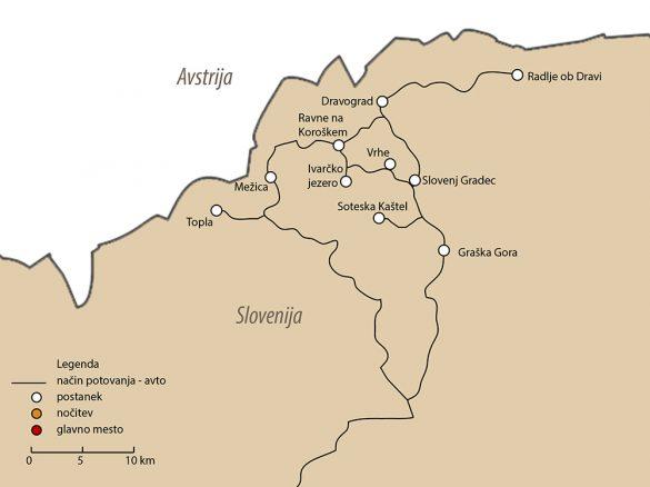 zemljevid Koroške