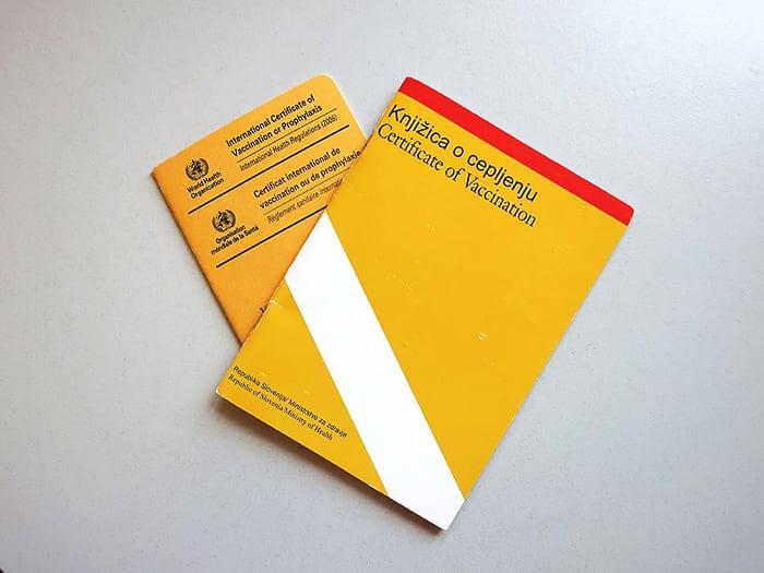 cepilna knjižica, cepljenja za Južno Afriko