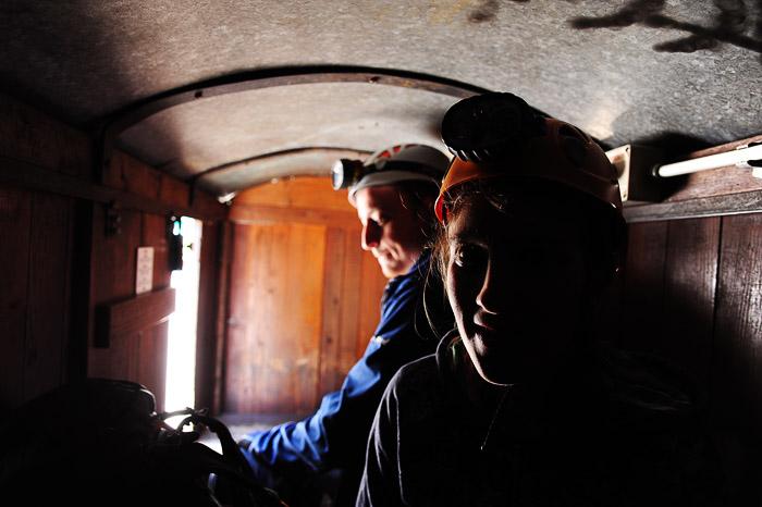 rudarski vagon v rudniku Mežica