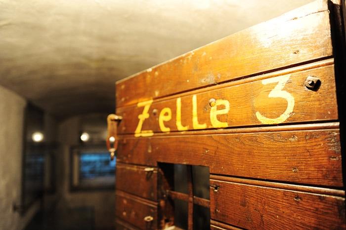vhod v jetniško celico Zelle 3 v gestapo zaporih v Dravogradu