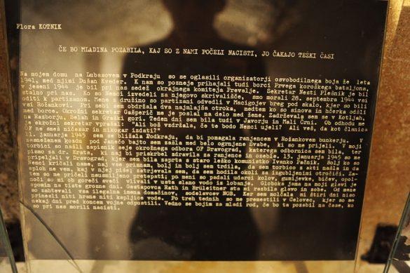 muzejski zapis izpovedi jetnice nemškega zapora v Dravogradu