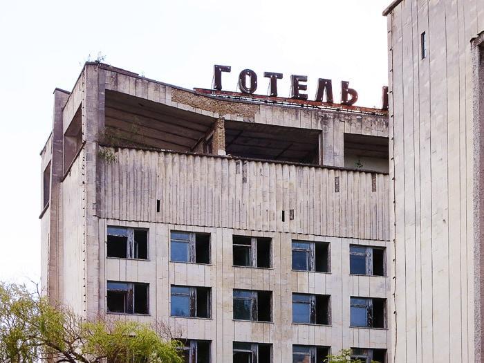 zapuščen hotel v mestu Pripjat
