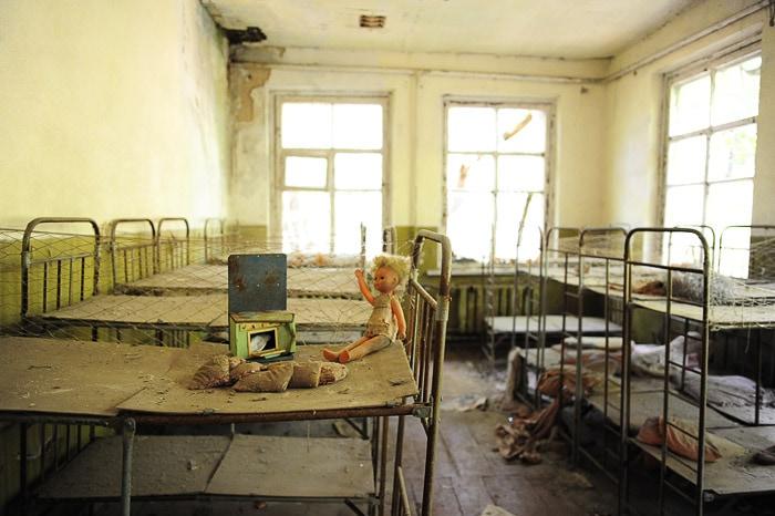 zapuščene igrače v vrtcu v Černobilu