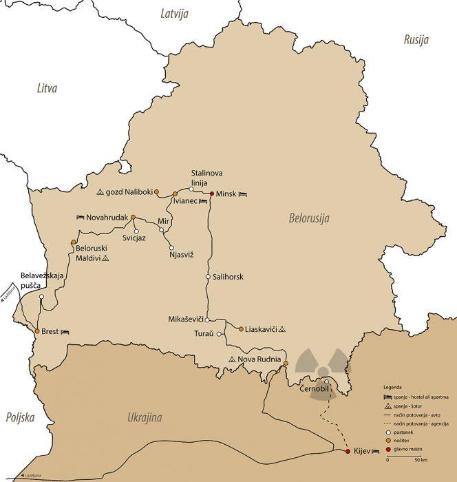 načrt potovanja: belorusija in ukrajina, zemljevid belorusija
