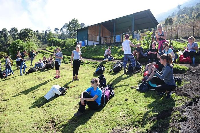 skupina mladih na travniku