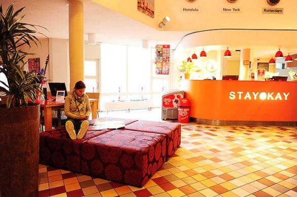 recepcija hostla Stayokay Rotterdam